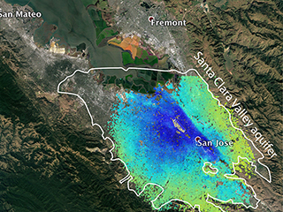 Satellites see Silicon Valley's quick drought recovery
