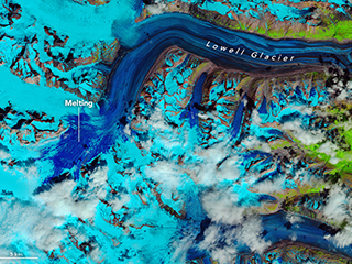 Large piece of Lowell Glacier quickly becomes pond of slush – Climate Change: Vital Signs of the Planet