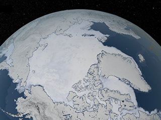 2019 Arctic sea ice wintertime extent is seventh lowest