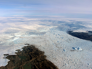 Cold water currently slowing fastest Greenland glacier