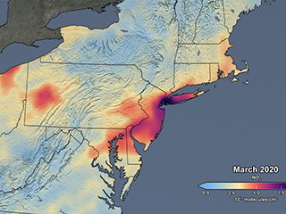 NASA Satellite Data Show 30% Air Pollution Drop over the Northeastern US
