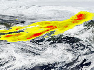 NASA-NOAA Satellite Sees Siberian Smoke Reach Alaska