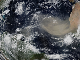Earth Day Connections: NASA Study Predicts Less Saharan Dust in Future Winds