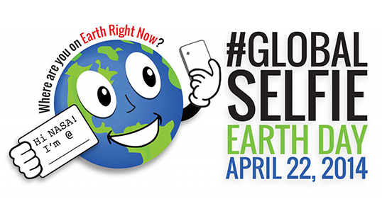 Snap a picture of yourself on Earth Day, April 22! Remember to use the hashtag #GlobalSelfie.