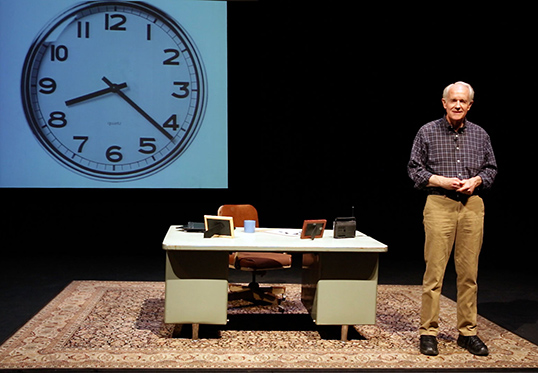 Mike Farrell portrayed Dr. Charles David Keeling in a new play about his life and research staged April 22 at Caltech.