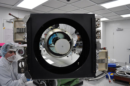 Roughly the size of a refrigerator, CATS will use the same two laser wavelengths on NASA's CALIPSO mission, 1,064 and 532 nanometers, and it will incorporate a third laser wavelength, 355 nanometers. This may provide more detailed information about the particles in Earth's atmosphere. Credit: NASA