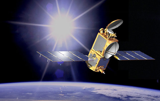 Artist concept of OSTM/Jason-2 in space. Image credit: NASA/JPL-Caltech