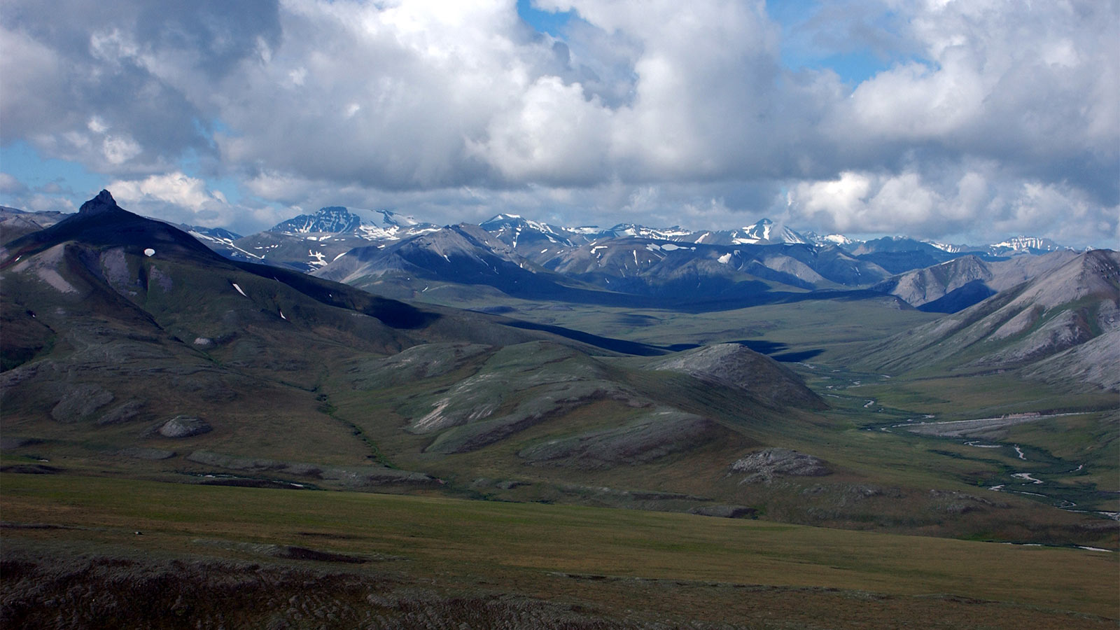 North front of Brooks Range along southern margin of central North Slope assessment area in the Arctic National Park and Preserve. Credit: U.S. Geological Survey