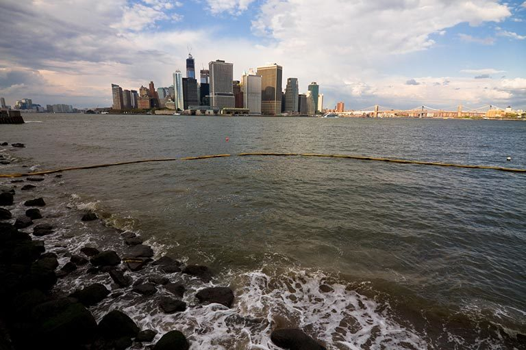 Manhattan's Financial District as seen from Governor's Island. Credit: NOAA. View larger image.