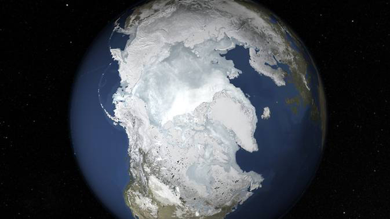 Arctic sea ice likely reached its annual maximum winter extent on Feb. 25, barring a late season surge. At 5.61 million square miles (14.54 million square kilometers), this year's winter peak extent is the lowest and one of the earliest on the satellite record that began in 1979. Credit: NASA's Goddard Space Flight Center. More from NASA's Earth Science Vizualization Studio.