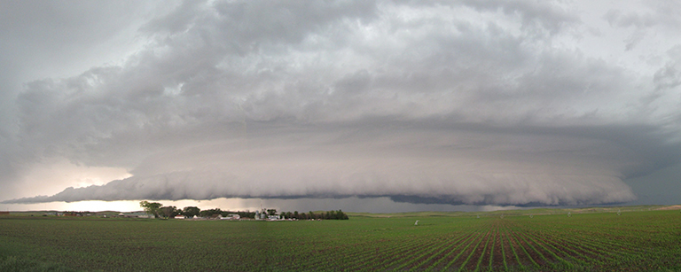 A new study clarifies what happens to precipitation that falls on land. Credit: NOAA/National Severe Storms Laboratory. View larger image.