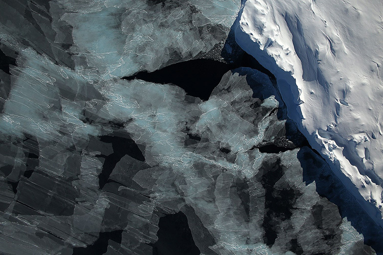 Sea ice in the Bellingshausen Sea seen by the Digital Mapping System instrument during the 2014 Antarctic campaign of Operation IceBridge. Credit: NASA / DMS Team. View larger image.