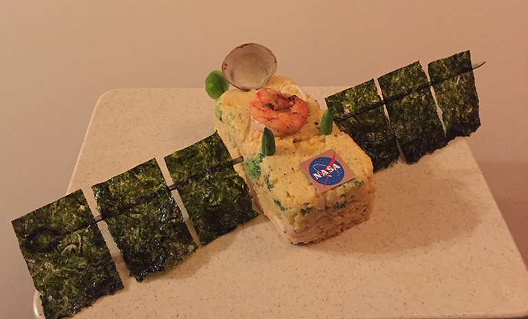 Sustainable seafood model of the Jason-3 satellite.