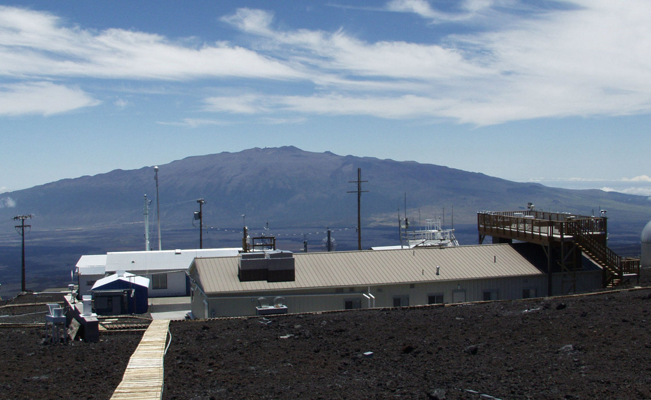 NOAA's Mauna Loa Observatory in Hawaii recorded the largest annual increase in atmospheric carbon dioxide during 2015. Credit: NOAA.