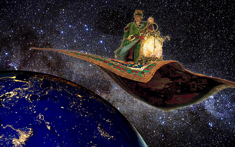Will Orbiting Flying Carpets Light The World Climate