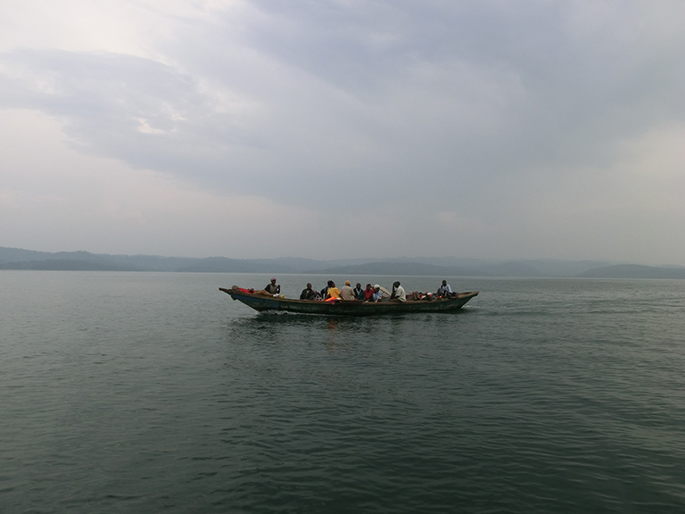 Fishing is an important part of the local economies in Africa's Great Lakes region. Here, fisherman are pictured on Lake Kivu in the Democratic Republic of the Congo. East of Lake Kivu, at Lake Victoria, climate scientist Wim Thiery and colleagues including Kris Bedka of NASA's Langley Research Center in Hampton, Virginia, conducted a study that found that climate change will increase hazardous thunderstorm activity, amplifying an already-dangerous situation for local fishermen. Credit: Wim Thiery.
