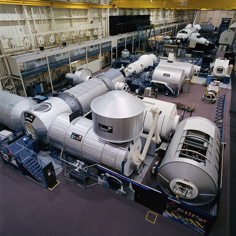 Johnson Space Center's Space Vehicle Mockup Facility. Photo courtesy of Space Center Houston.