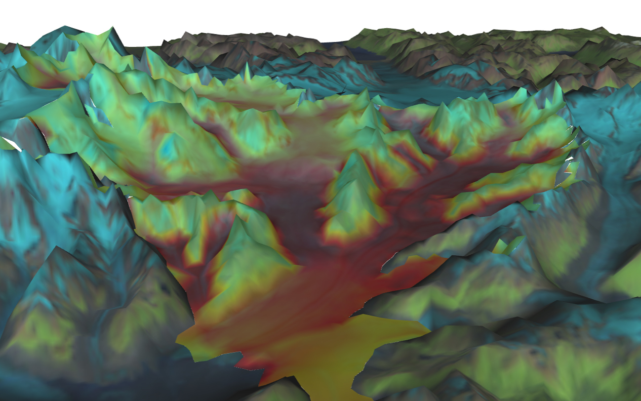 A simulation by VESL of Columbia Glacier, Alaska