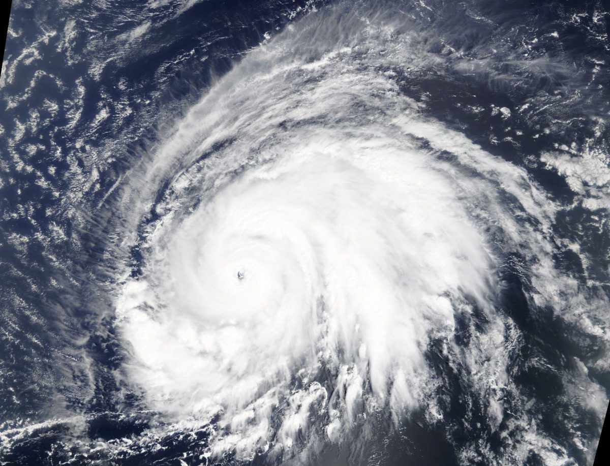 Hurricane Lorenzo moving through the eastern North Atlantic Ocean, as seen from NASA's Terra satellite. Credit: NASA Worldview, Earth Observing System Data and Information System (EOSDIS).