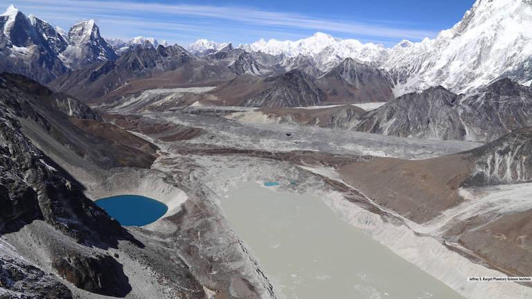 Glacier lake Imja in the Himalaya
