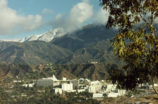 A view overlooking the Jet Propulsion Laboratory