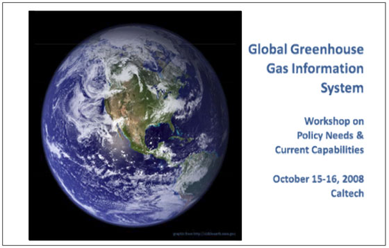 A workshop on a proposed Global Greenhouse Information System was hosted by the Jet Propulsion Laboratory and RAND on Oct. 15-16 at the California Institute of Technology in Pasadena, Calif.  To download the report from the workshop, click the link below.