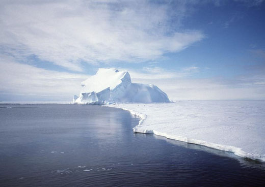A small part of the Antarctic ice sheet. Image credit: NASA/GRACE team/DLR/Ben Holt Sr.