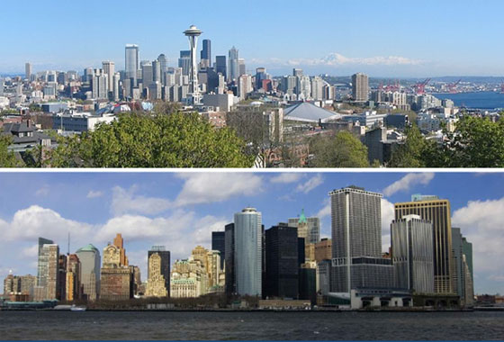 Despite their cultural and geographic contrasts, Seattle and New York City share one thing in common -- both are using space-based data to plan for future climate change.