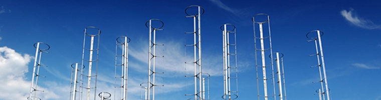 These vertical-axis turbines allow more efficient energy to be produced, in fewer square feet.