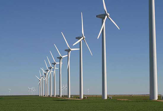 A new study of NASA satellite data showed that an area of west-central Texas covered by four large wind farms warmed at a rate of 0.72 degrees Celsius per decade relative to nearby regions without wind farms. Scientists suggest the turbines act as fans to pull warmer air to the surface at night, accounting for most of the warming trend. Credit: Wikimedia Commons