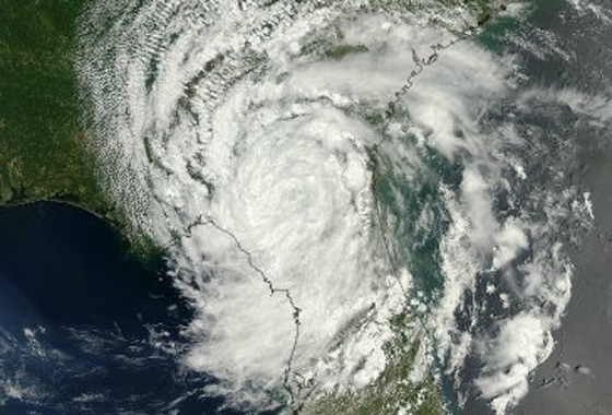 This visible image of Tropical Depression Beryl was captured using the MODIS instrument on NASA's Terra satellite on May 28, 2012 at 12:05 p.m. EDT when it was centered over northern Florida. Credit: NASA MODIS Rapid Response Team.