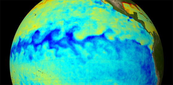 A space-based perspective enables the of mapping large-scale ocean phenomena, such as the 2007 La Niña at left. The more scientists learn about ocean surface topography, the better they can apply that knowledge to answer the remaining mysteries of the oceans.