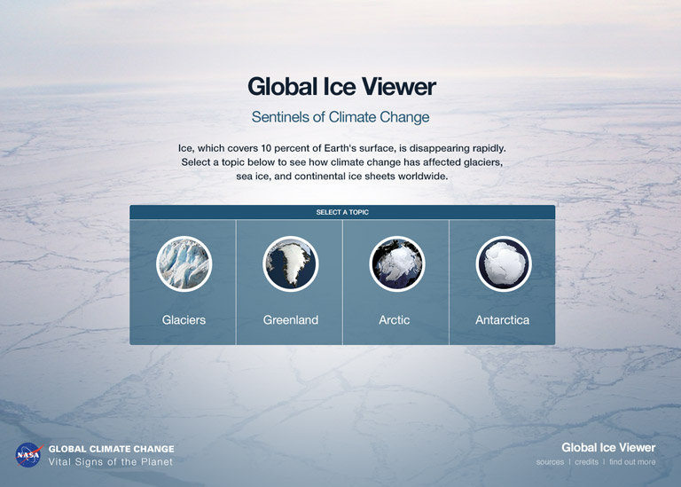 Global ice viewer interactive