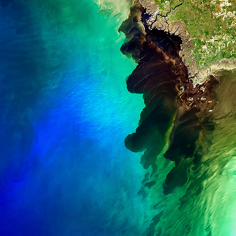 Suwannee blackwater river meets the sea