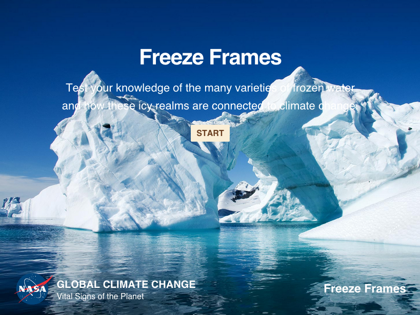 Test your knowledge of the many different varieties of frozen water and how these icy realms are connected to climate change.