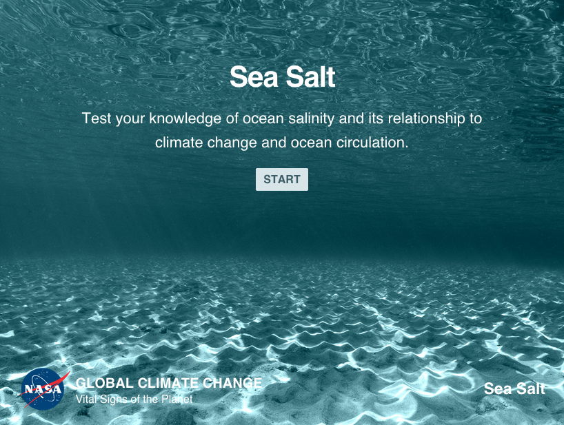 Test your knowledge of ocean salinity and its relationship to climate change.