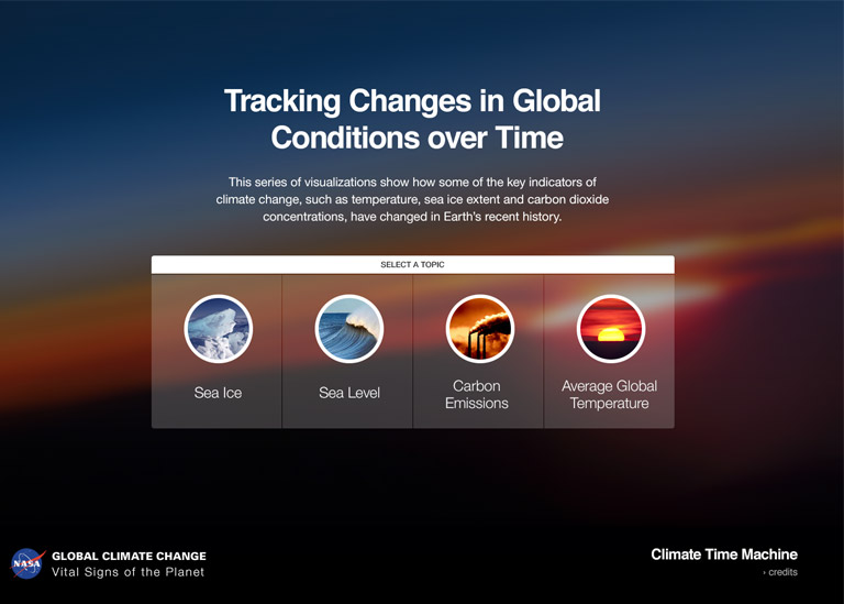 Climate time machine interactive