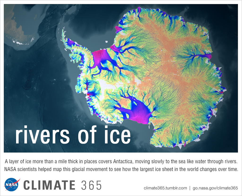 Rivers of ice - Climate365 graphic
