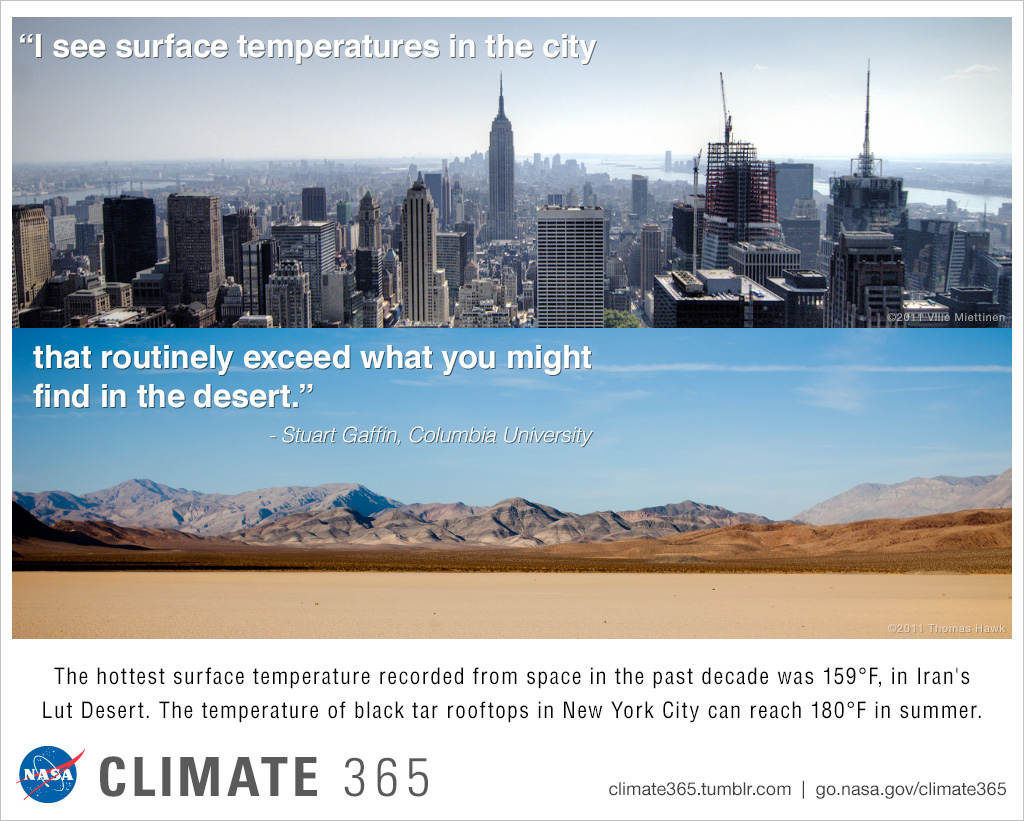 City vs. desert - Climate365 graphic