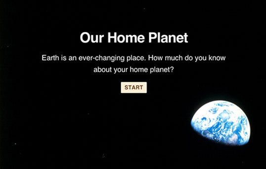 Quiz: Our home planet