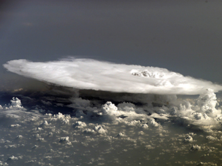 Cumulonimbus cloud over Africa