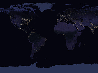 Graphics and multimedia resources climate change vital signs of video lights of human activity shine in nasas image of earth at night fandeluxe Images