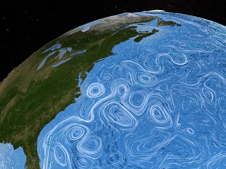 Salinity plays a major role in global ocean circulation and changes in salinity may impact regional and global climates. NASA