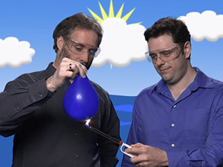Oceanographer Josh Willis discusses the heat capacity of water, performs an experiment to demonstrate heat capacity using a water balloon and describes how water