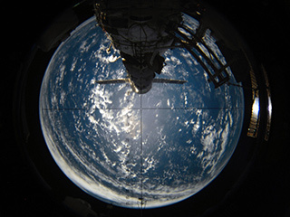 Aft view of Earth